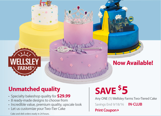 BJs Wholesale Club: Save USD5 on BJ s new two-tiered cake ...