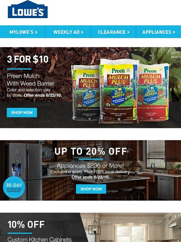 Lowes 3 For 10 Preen Mulch Milled