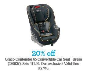 20 Off Graco Contender 65 Convertible Car Seat