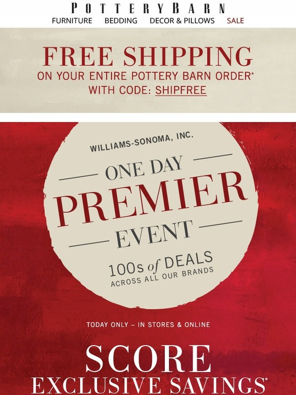 Pottery Barn Day Premier Event 100s Of Deals Across