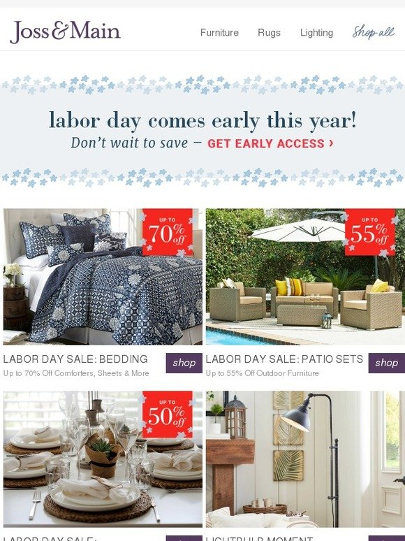 bed bath and beyond labor day sale