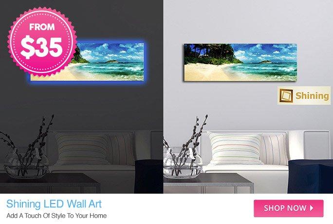 Shining LED Wall Art