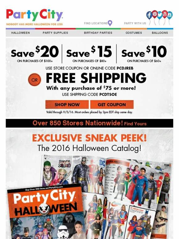 party city halloween catalog is here save 20 milled