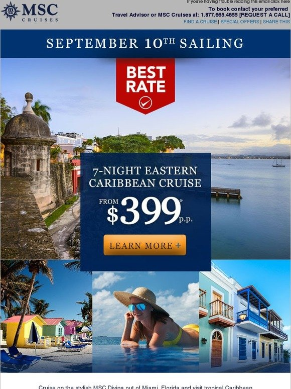 Msc Cruises Last Minute Sale 7 Night Cruises From 399