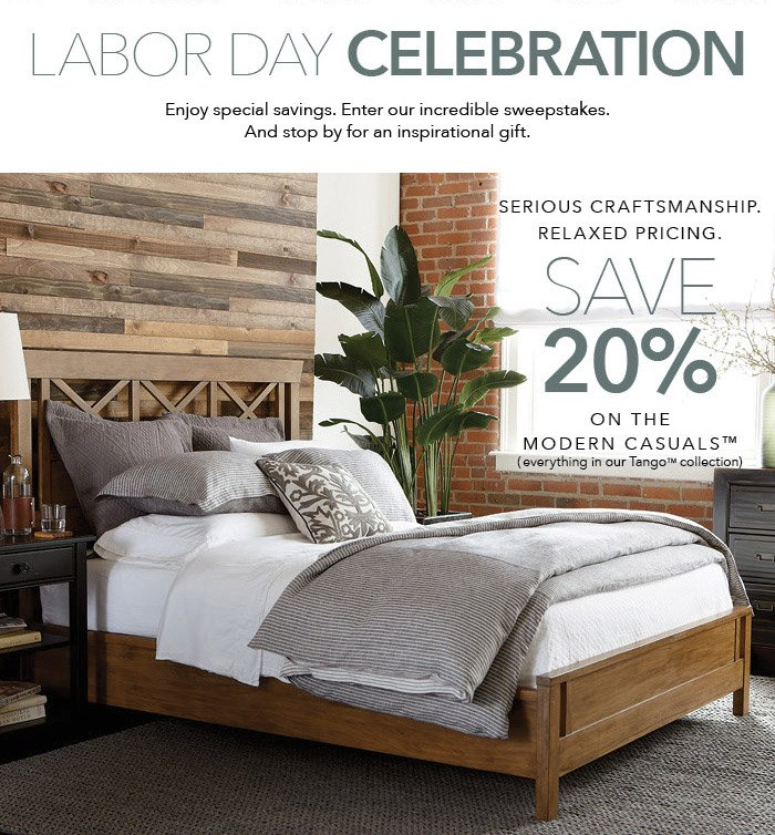 Just 3 more days till our Labor Day sale ends, Save 20% + FREE shipping. This deal only comes once in a blue moon for Ethan Allen, also this deal is great to have since it is time to start putting in orders for your items to be in your home before the Holidays start rolling around. You can't beat this deal!!!3/5(4).