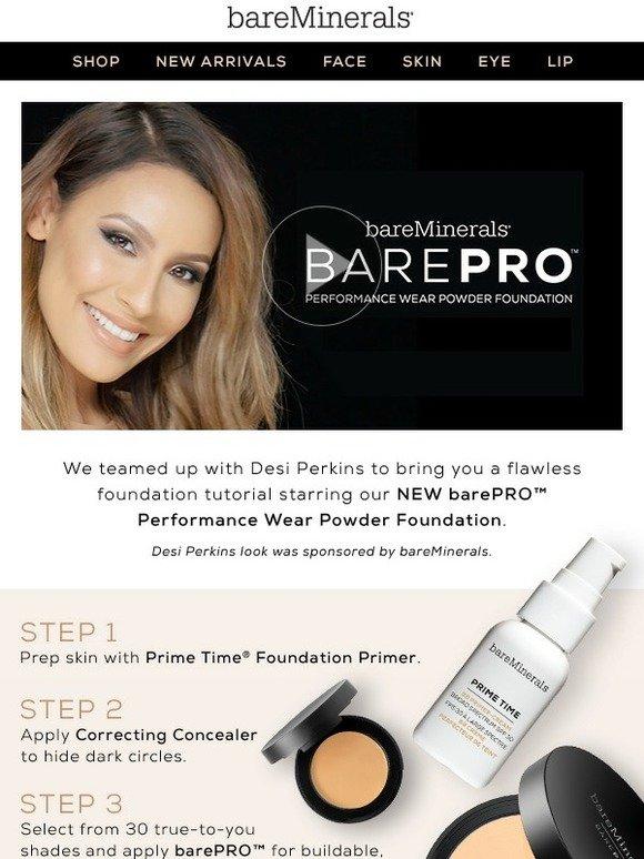 Bare Escentuals: Wanna wear barePRO like a Pro? | Milled