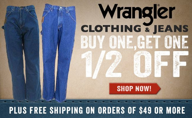 2967a647 Working Person's Store: Buy One Get One 1/2 Off Wrangler Jeans ...