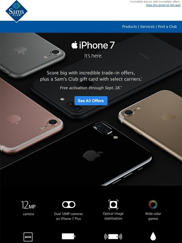 sams club iphone sam s club new iphone 7 is calling milled 12910