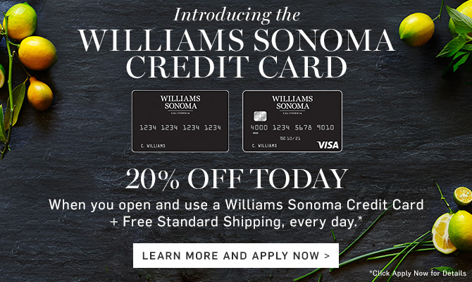 Apr 13,  · The Williams-Sonoma Visa Signature card is a credit card issued by Barclays in the US in connection with Williams-Sonoma (WSM) retail stores. If you like shopping for homeware or cookware at Williams-Sonoma, you should consider getting this Visa (V) card as it rewards you with points when you spend on the card, and it also gives you triple /5.