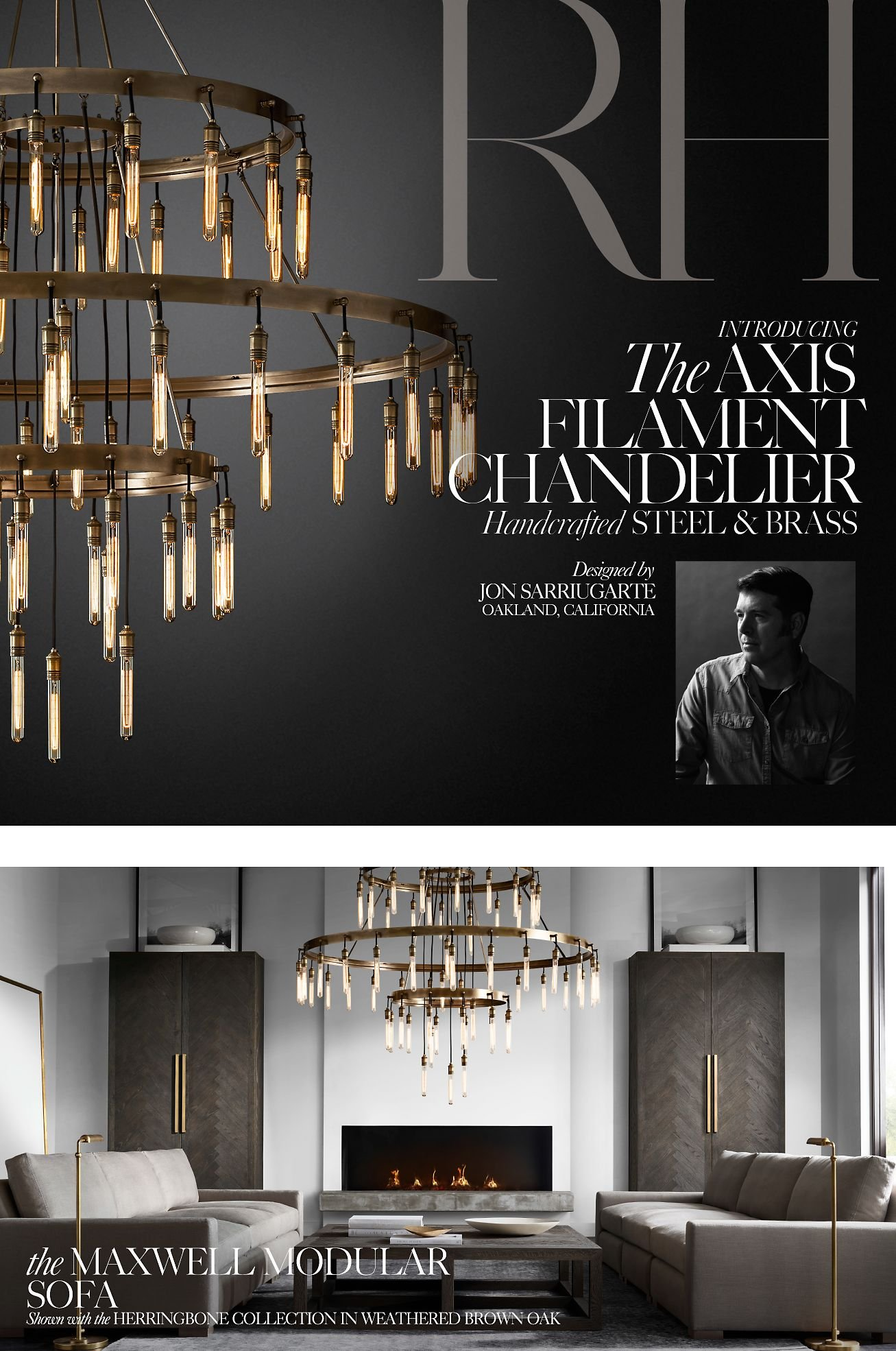 Restoration Hardware Introducing the Axis Filament Chandelier