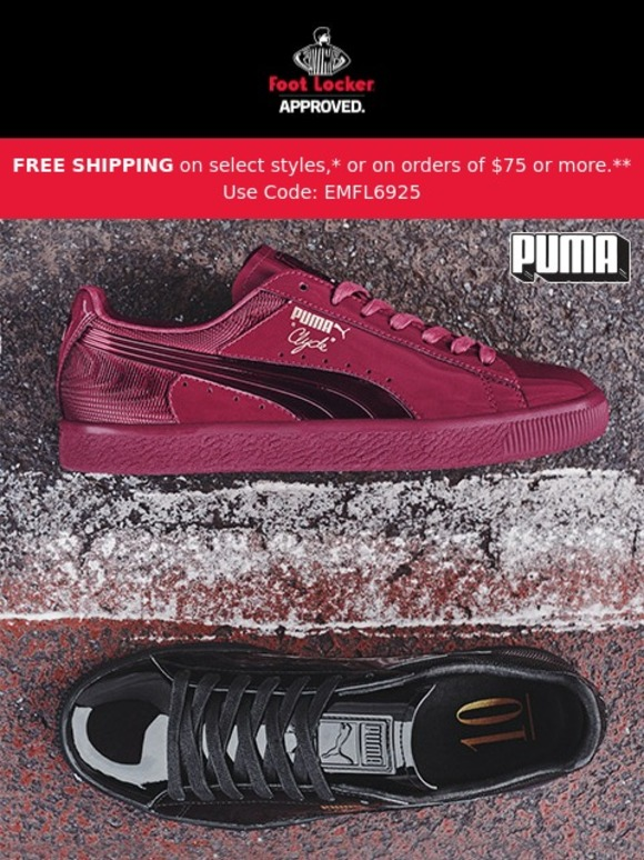 new style 9c825 60160 Foot Locker: It's all about luxury with the PUMA Clyde ...
