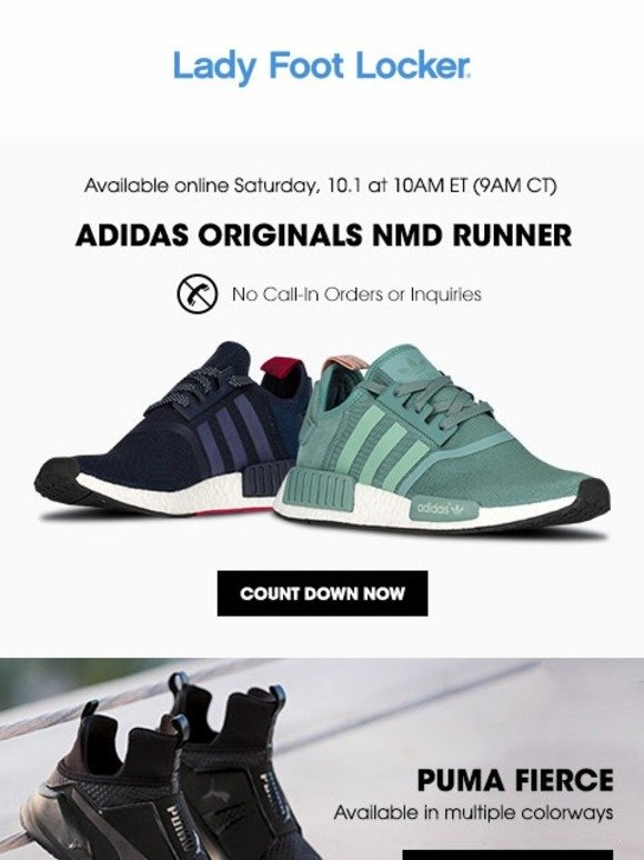 24d34c667cac0 Lady Foot Locker  Available tomorrow – adidas Originals NMD