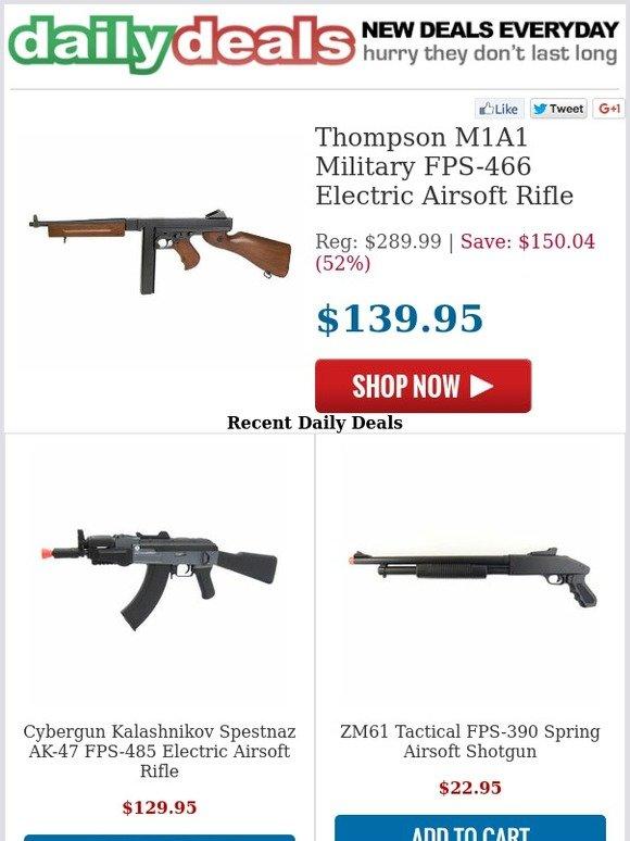 HobbyTron com: $139 95 - Thompson M1A1 Military Electric