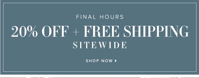 Frontgate: Final hours: Save 20% sitewide + FREE shipping ...