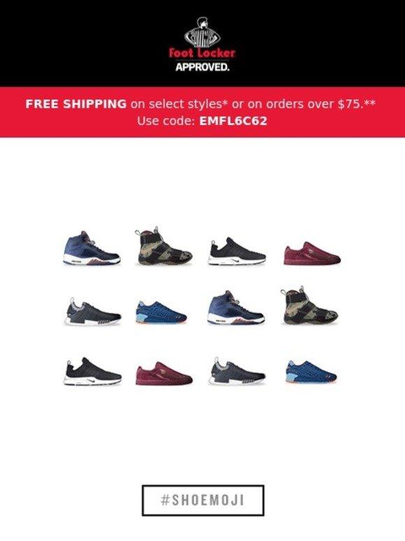 450e82e73821e8 Foot Locker  Download your new Shoemojis
