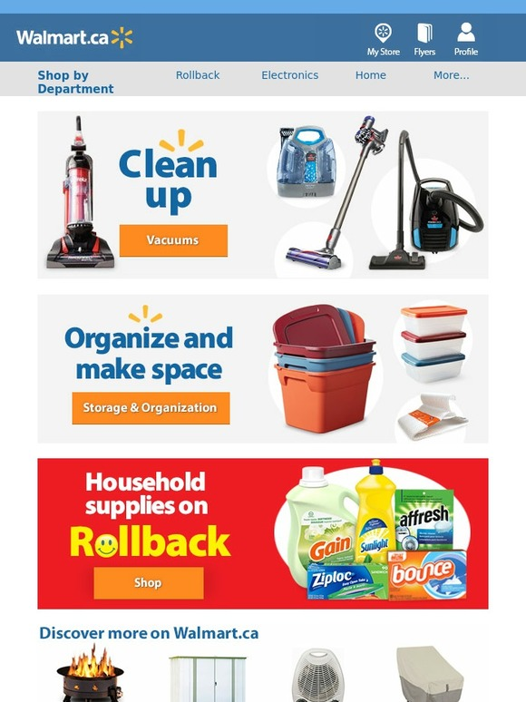 walmart canada email newsletters