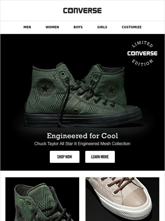 4a6d46e66b4164 Converse  Just In  Our Engineered Mesh Collection