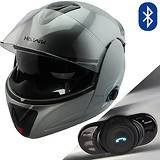 9d382a2f Hawk H6618 Grey Dual Visor Modular Motorcycle Helmet with Blinc Bluetooth