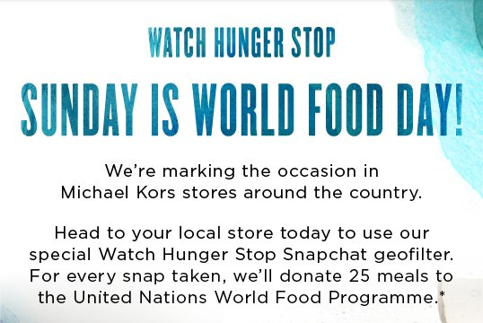 Today Is World Food Day!