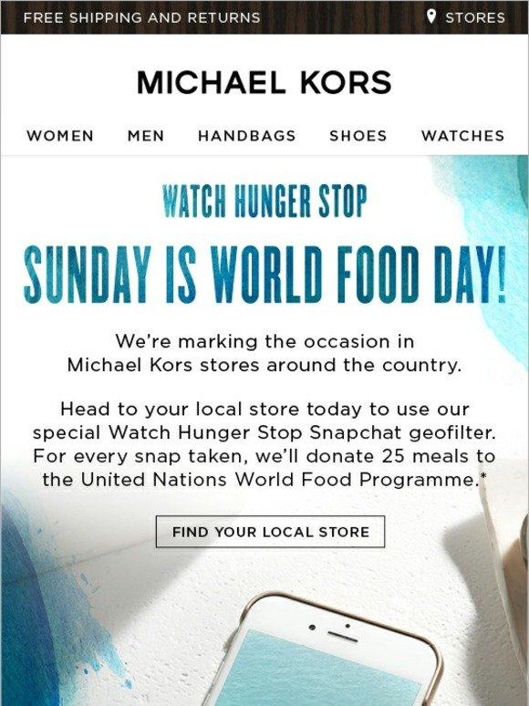 Michael Kors Do Your Part On World Food Day Milled
