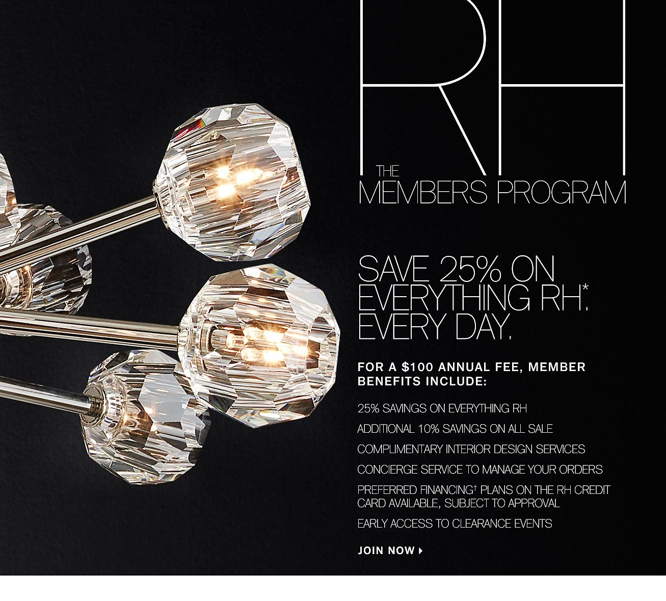 Restoration Hardware Experience Rh Modern And Save 25 On Everything With The Members Program Milled