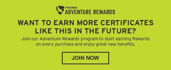 JOIN ADVENTURE REWARDS