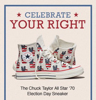 ... new product 29ec6 40e0b Shop Now for the Chuck Taylor All Star 70  Election Day Sneaker ... b494cca90