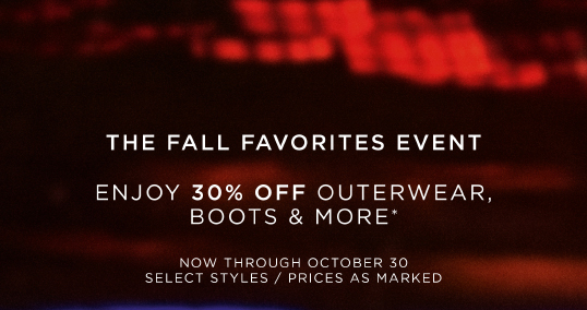 THE FALL FAVORITES EVENT