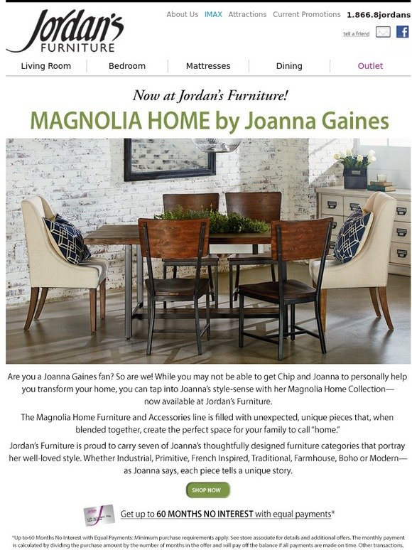 Jordan S Furniture We Now Carry Magnolia Home By Joanna Gaines