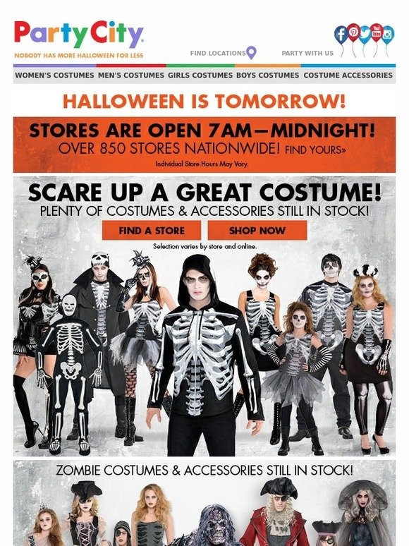 party city halloween is tomorrow stores open at 7 am milled - Party City Store Costumes