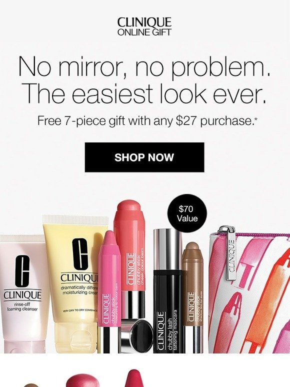 Clinique: Pretty is easy. FREE 7-piece kit with purchase. | Milled