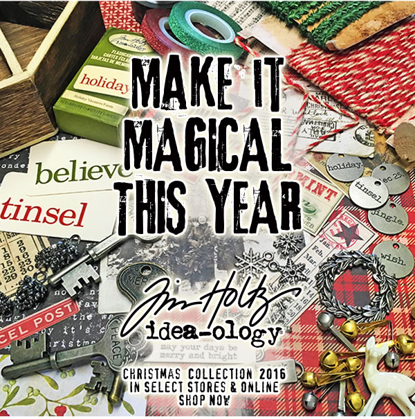 New! Tim Holtz Christmas Papercrafting Supplies. Shop All.
