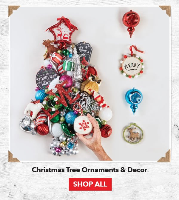 Up to 50% off Christmas Tree Ornaments & Decor. Shop All.