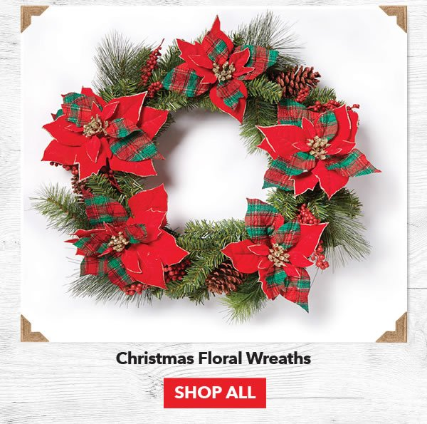 Up to 50% off Christmas Floral Wreaths. Shop All.
