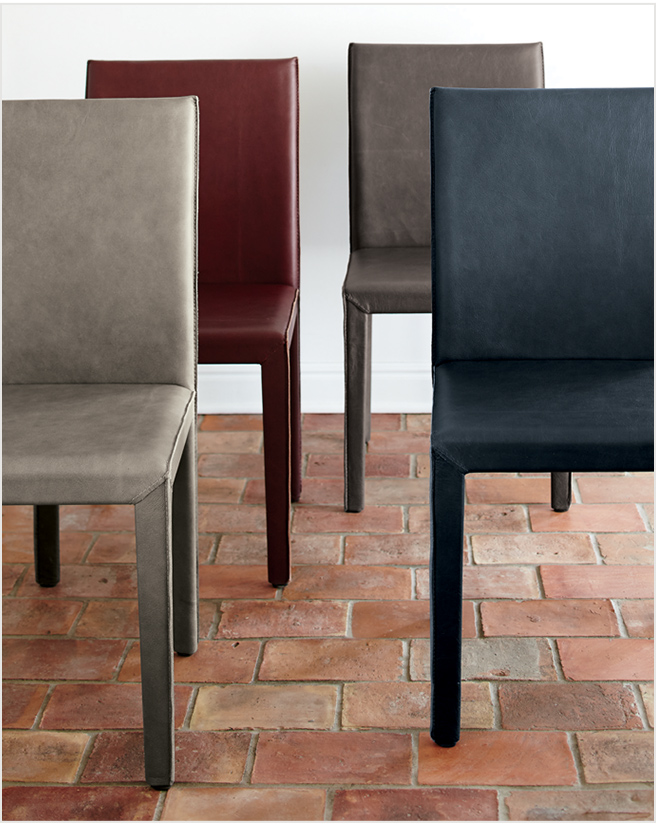 Folio Top Grain Leather Dining Chair