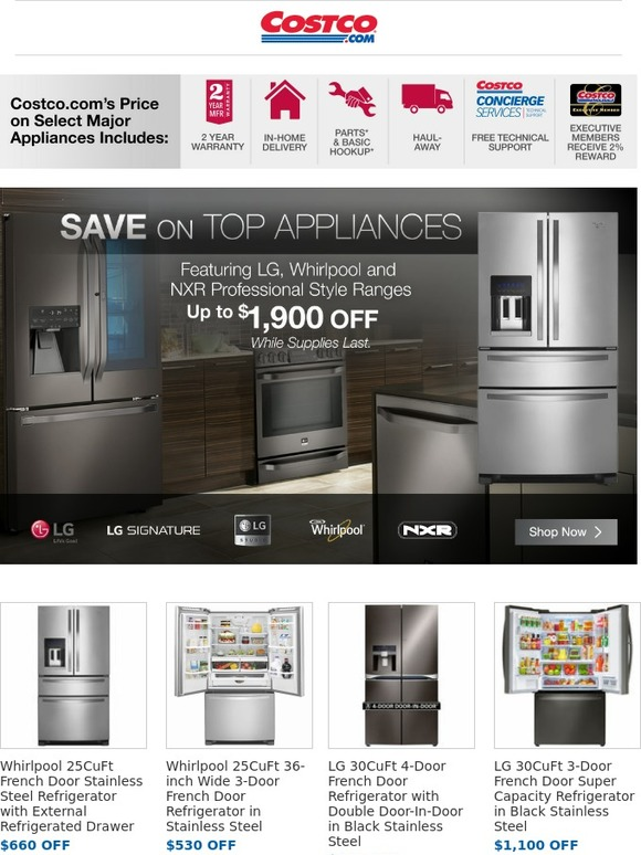 Costo Holiday Savings On Name Brand Appliances Starts Now