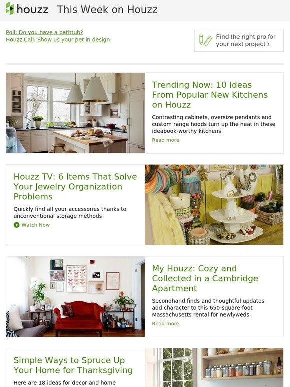 Houzz 10 Popular Kitchen Ideas Houzz Tv Jewelry Organization