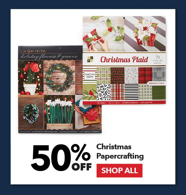 50% off Christmas Papercrafting. SHOP ALL.