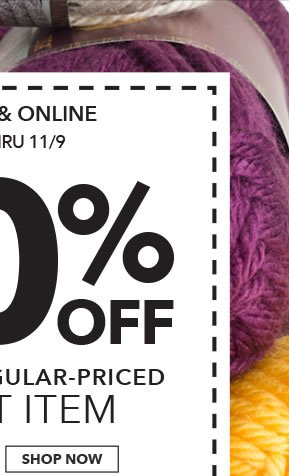 In-store & Online 40% off Any One Regular-Priced Craft Item. SHOP NOW.