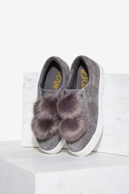 Sam Edelman Leya Suede Sneaker - Gray