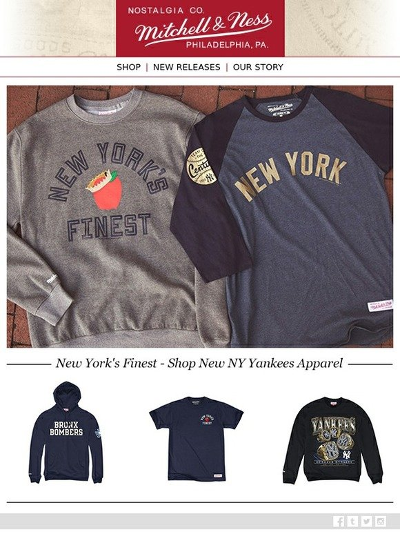best sneakers 1ee5a 4f81e Mitchell & Ness: 🍎 New York's Finest - Shop New Yankees ...