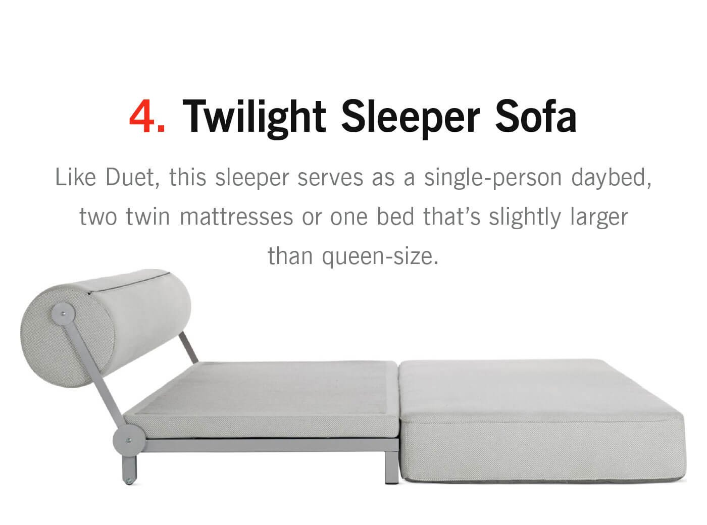 Twilight Sleeper Sofa - Like Duet, this sleeper serves as a single-person  daybed