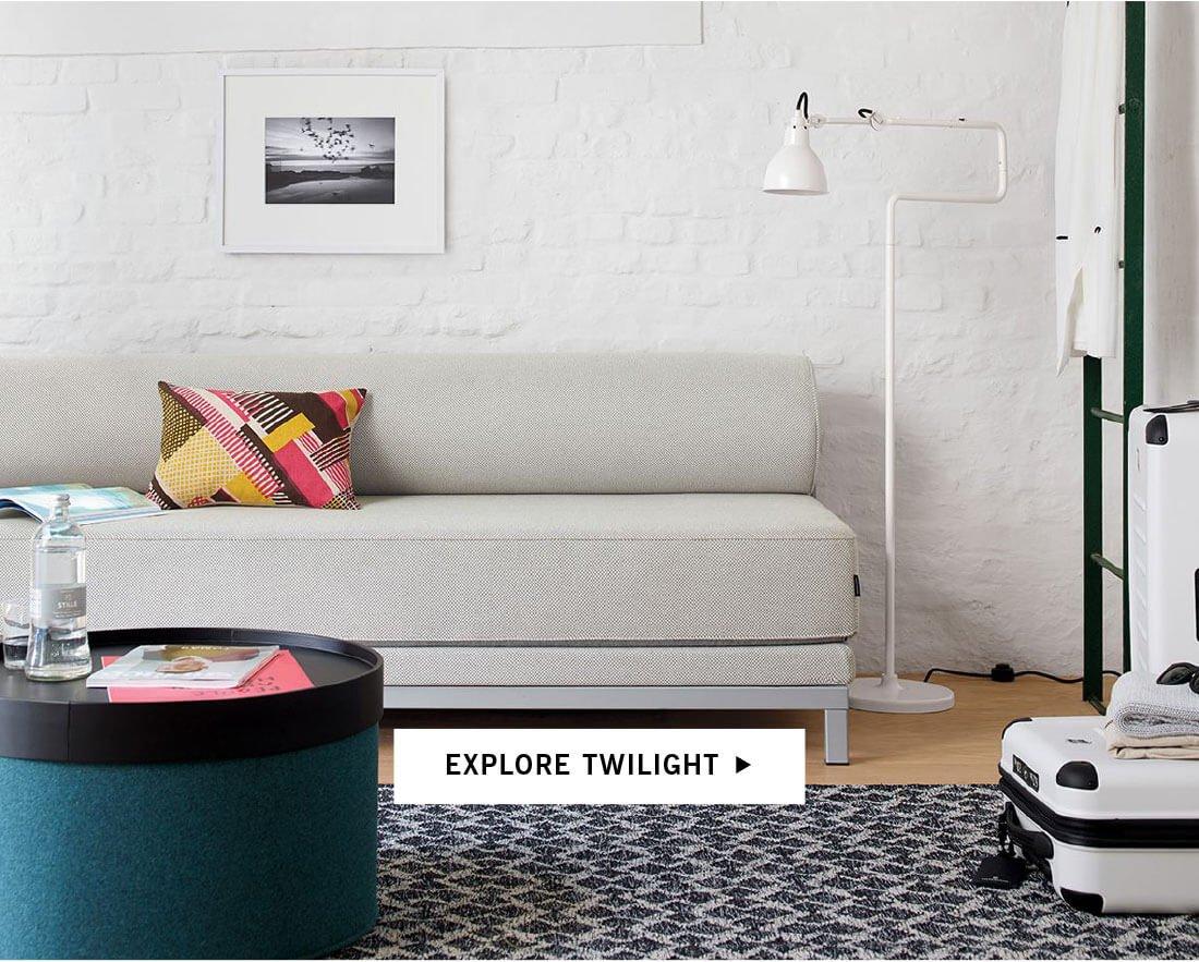 twilight sleeper sofa with innovation living inc split back