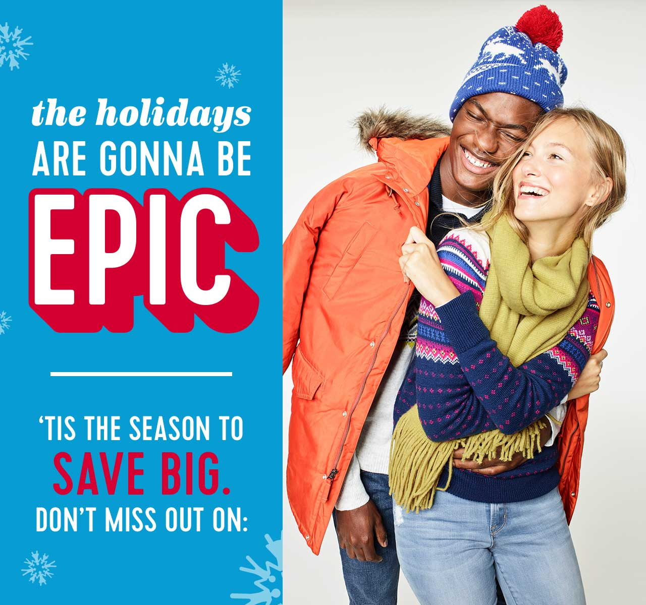 Old Navy: 3 words: EPIC HOLIDAY DEALS | Milled