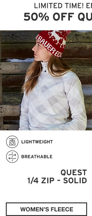 50% OFF QUEST FLEECE | SHOP WOMEN'S