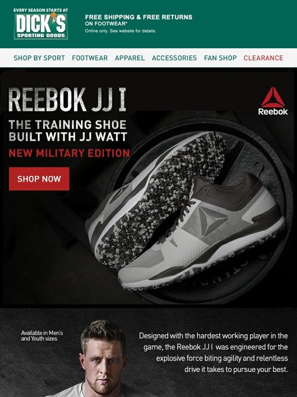 Dick s Sporting Goods  Now Available  Reebok JJ I Military Edition ... 15db3cdf9