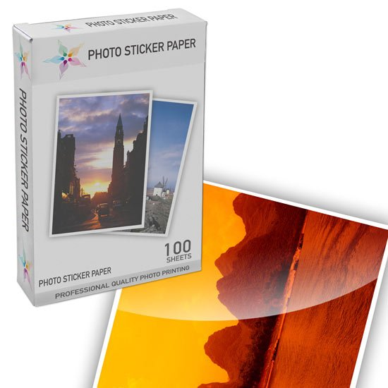 Glossy Photo Sticker Paper 100 Sheets
