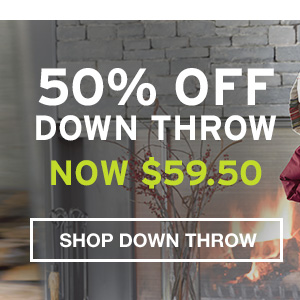 50% OFF THROWS