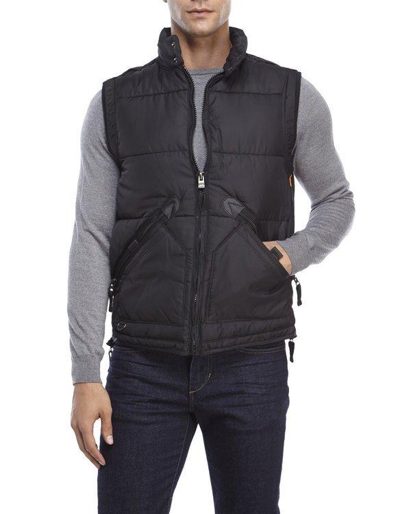 Black Zipper Vest