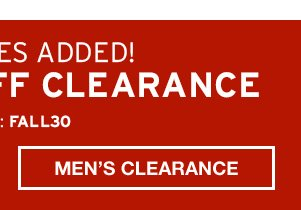 EXTRA 30% OFF CLEARANCE | SHOP MEN'S